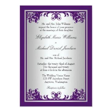 Purple Wedding Invitations - Up To 40% Off On Rustic Wedding Invitations