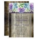 purple blue green watercolor succulents weddings