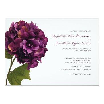 purple hydrangea - floral wedding