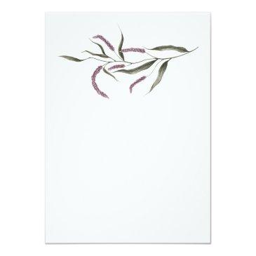 Small Purple Plum Pink Watercolor Floral Wedding #3 Back View