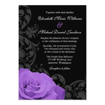 purple rose flourish wedding