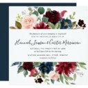 radiant bloom floral wedding invitations | square