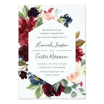 Small Radiant Bloom Frame Wedding Invitation Front View