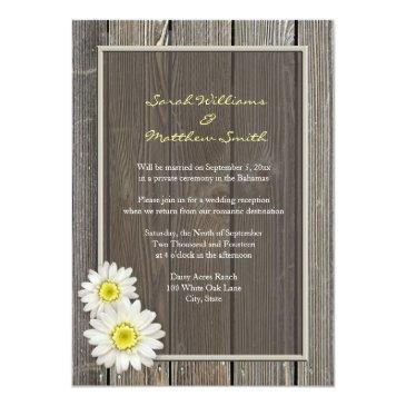 reception only rustic daisy wedding