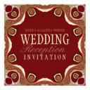 red+gold tribal royal alternative wedding invitati invitations