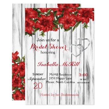 red lilies on white wood -invitation