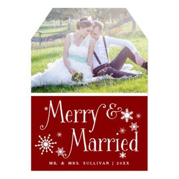 red merry & married holiday photo flat