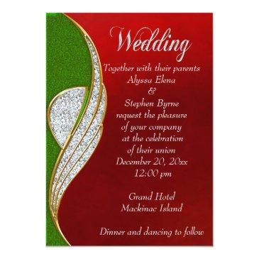 red, silver silver christmas wedding