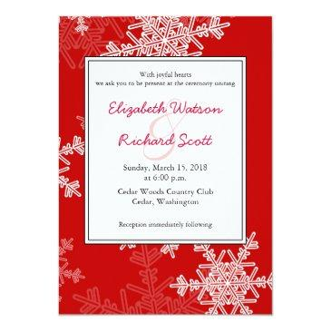 red snowflakes christmas wedding
