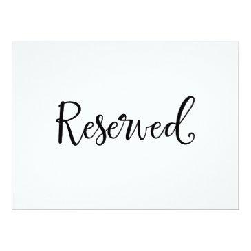 """""""reserved"""" wedding sign   rustic calligraphy"""