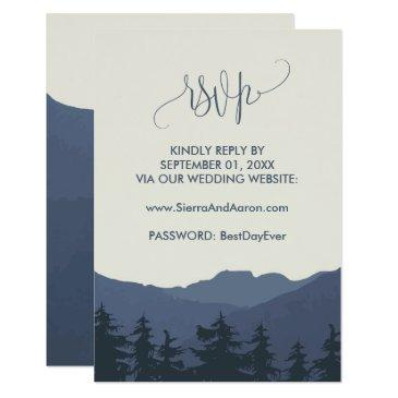 retreat to the mountains wedding website rsvp