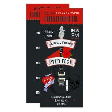 rock n' roll wedding ticket custom