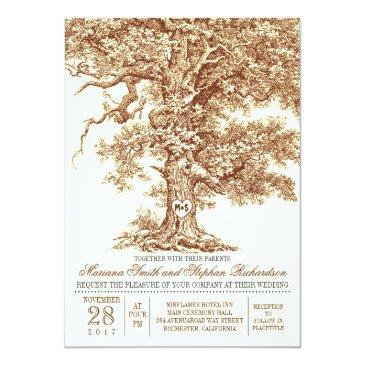 romantic old oak tree rustic wedding