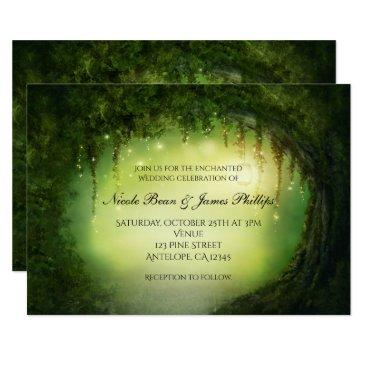 romantic rustic enchanted forest tree invitationss