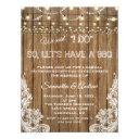 romantic rustic lace string lights i do bbq invitation