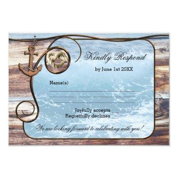 romantic rustic nautical wedding rsvp