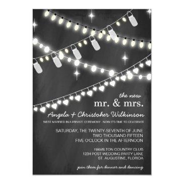 romantic string lights reception only