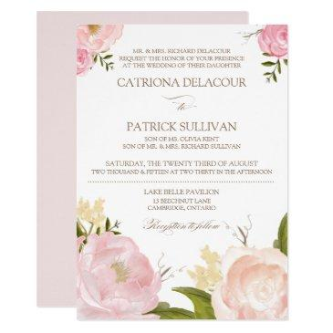 romantic watercolor flowers wedding  iv