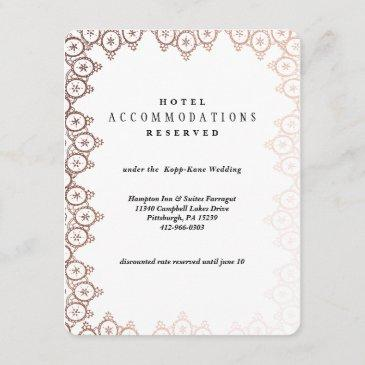 rose gold delicate wedding hotel