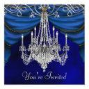 royal navy blue chandelier party