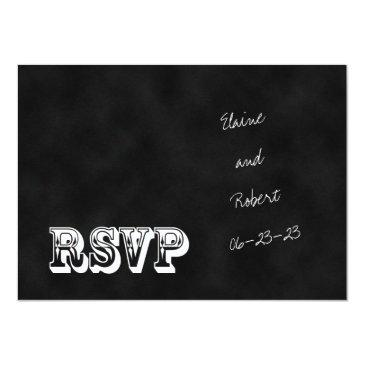 Small Rsvp Chalkboard Style Wedding Invitation Front View