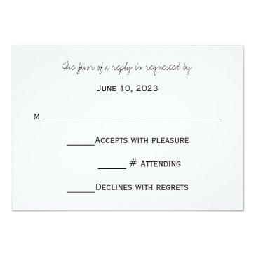 Small Rsvp Chalkboard Style Wedding Invitationss Back View
