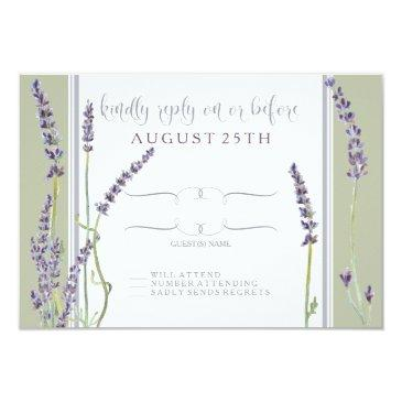 rsvp french lavender flowers modern typography