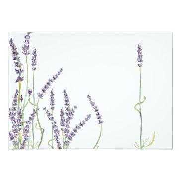 Small Rsvp French Lavender Flowers Modern Typography Invitation Back View