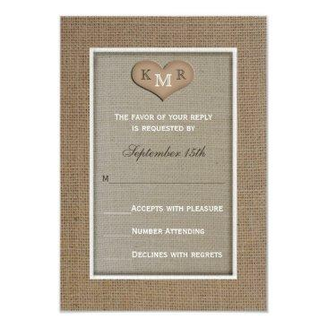 rsvp wedding  -- burlap