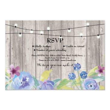 rsvp wedding rustic wood floral invitation invites