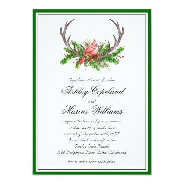 Small Rustic Antlers And Inal Wedding Front View