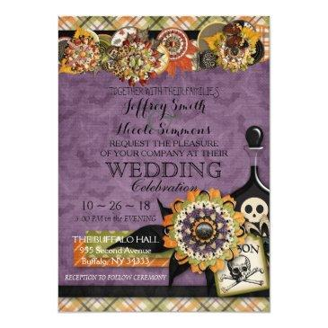 Small Rustic Autumn Fall Halloween Barn Wedding Front View