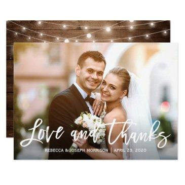 rustic baby's breath love and thanks wedding photo
