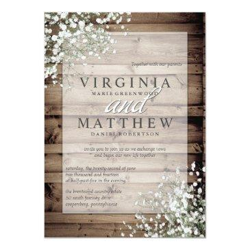 Small Rustic Baby's Breath Wedding Front View