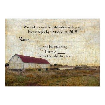 rustic barn country rsvp invitationss