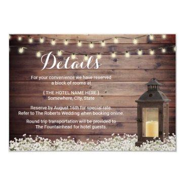 rustic barn lantern string light wedding details invitations