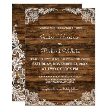 rustic barn wood and lace wedding