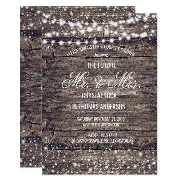 rustic barn wood snowflakes winter couple's shower