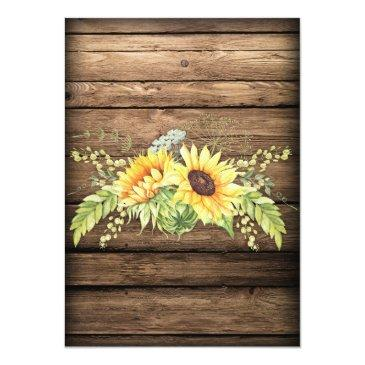 Small Rustic Barn Wood Sunflowers Antlers Wedding Back View