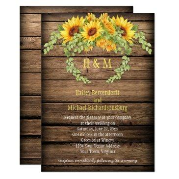 rustic barn wood sunflowers wreath antlers wedding
