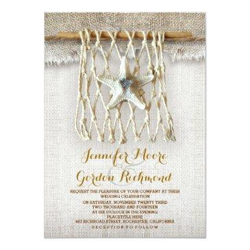 Small Rustic Beach Wedding Invitations Front View