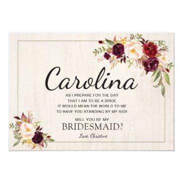 rustic boho chic will you be my bridesmaid