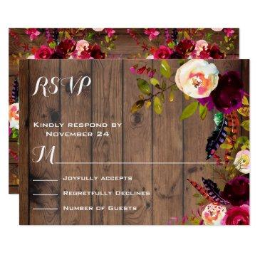 rustic boho rsvp dark wood