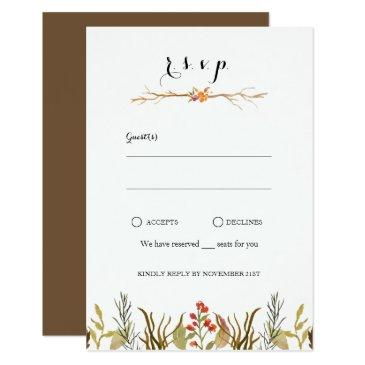 rustic boho woodland animals watercolor wedding