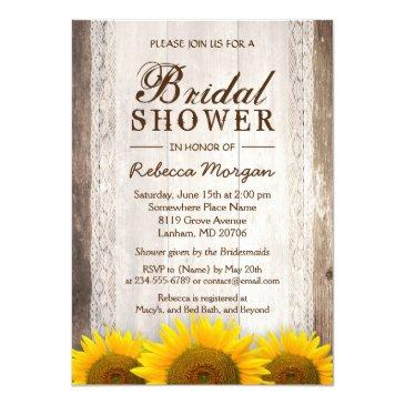rustic bridal shower sunflowers lace barn wood