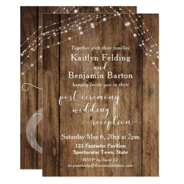 rustic brown & lights post-wedding reception only