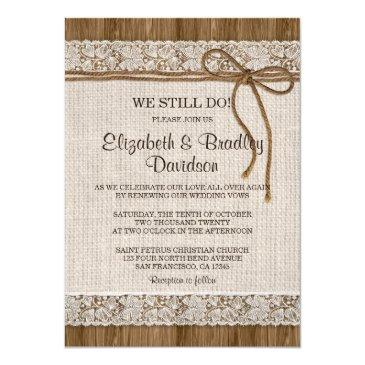rustic burlap and lace vow renewal reaffirmation