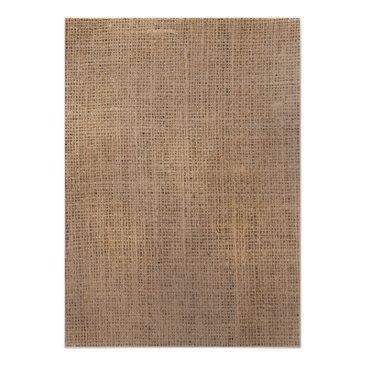 Small Rustic Burlap Eat Drink And Be Married Wedding Back View