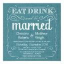 rustic burlap teal blue wedding invitationss