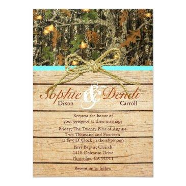 rustic camo wedding
